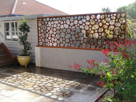 Laser Cut Metal Privacy Screen