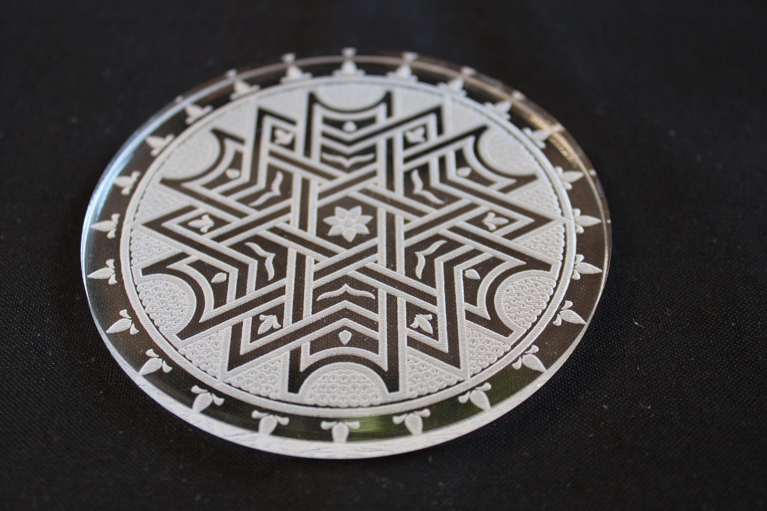 Acrylic Laser Cut Coasters Set
